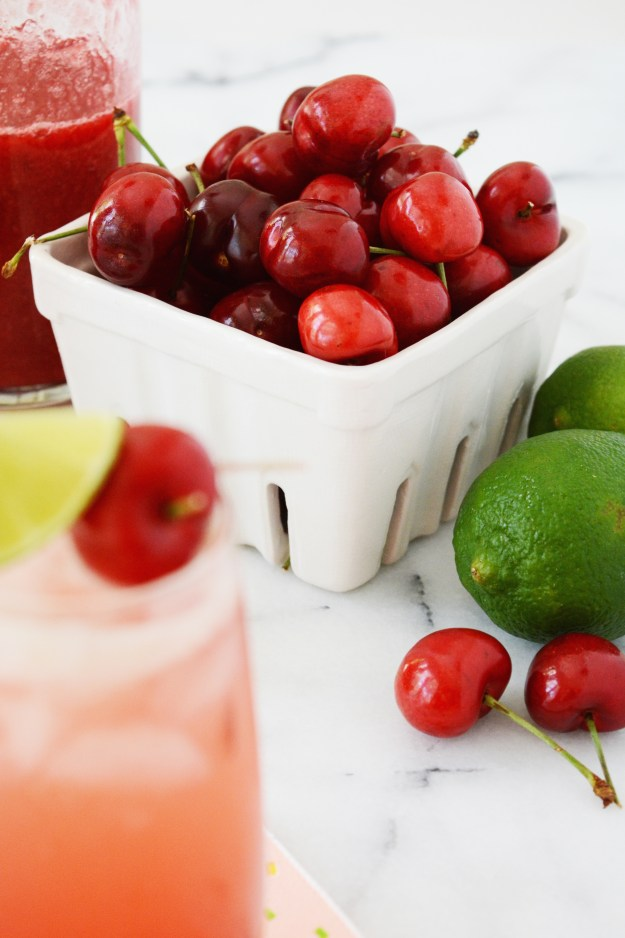 Cherry Limeade recipe - a healthier take on a drive-thru classic.