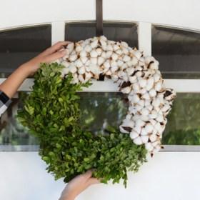 DIY Modern Fall Wreath