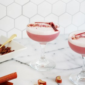 Rhubarb Rose Fizz