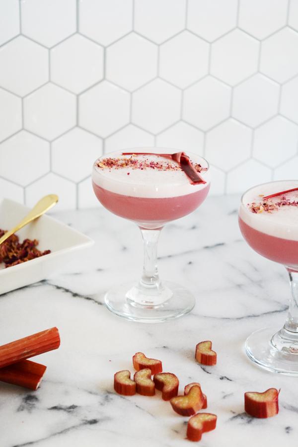 Rhubarb Rose Fizz Mocktail