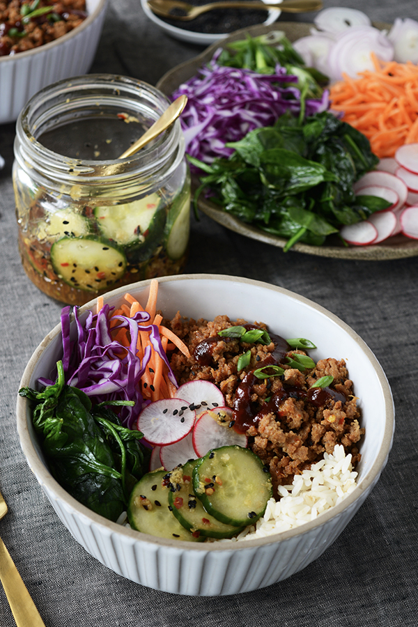 Ground Turkey Korean Rice Bowls