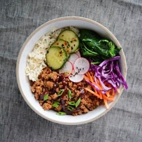 Ground Turkey Korean Rice Bowls