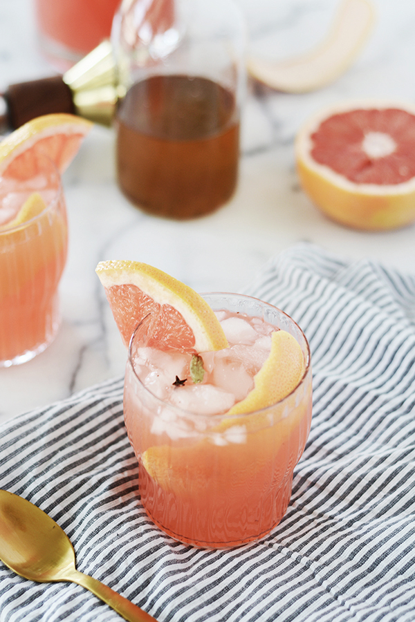 Spiced Grapefruit Spritzer