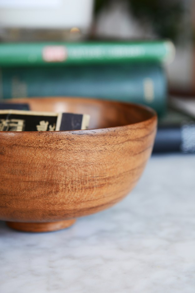 Midcentury Wooden Bowl