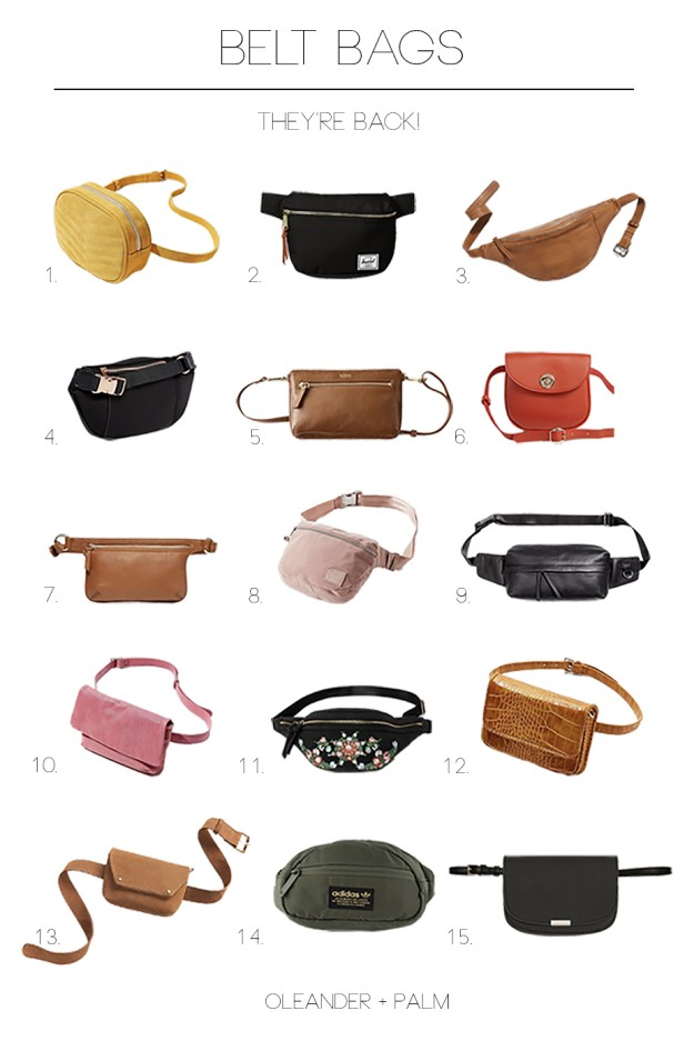 Belt Bags, Fanny Packs, and Bum Bags