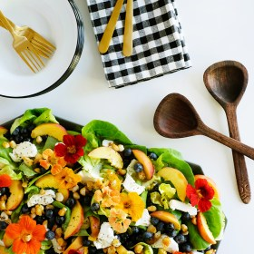 Fruit + Flowers Summer Salad with Lemon Poppy Seed Dresssing