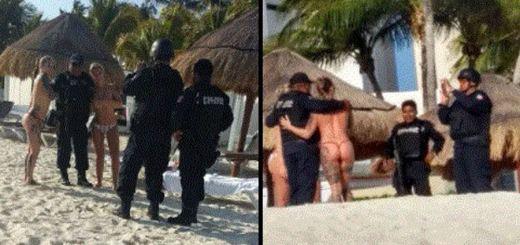 Policías de Cancún son viralisados por fotos comprometedoras