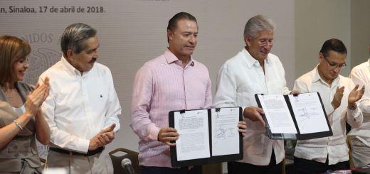 Firman Gobierno de Sinaloa y SCT importantes convenios en materia de telecomunicaciones y puertos