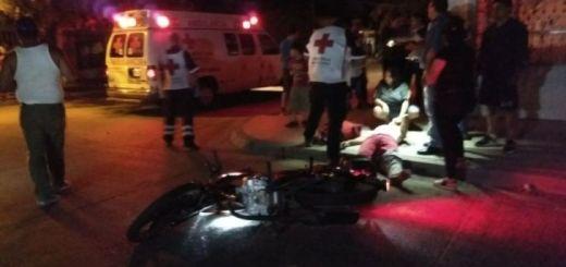 Motociclista sale lesionado en Los Mochis