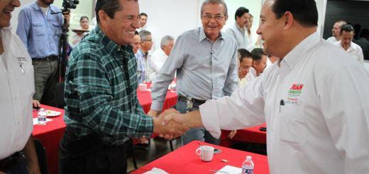 Juan Ernesto hace compromisos con la CMIC