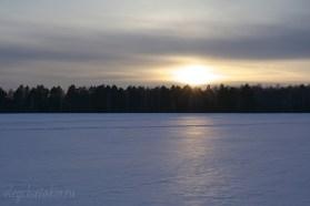 Зимний закат, февраль