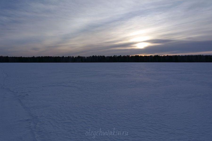 Март, закат, фото