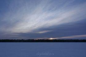 Красивый мартовский закат, фото