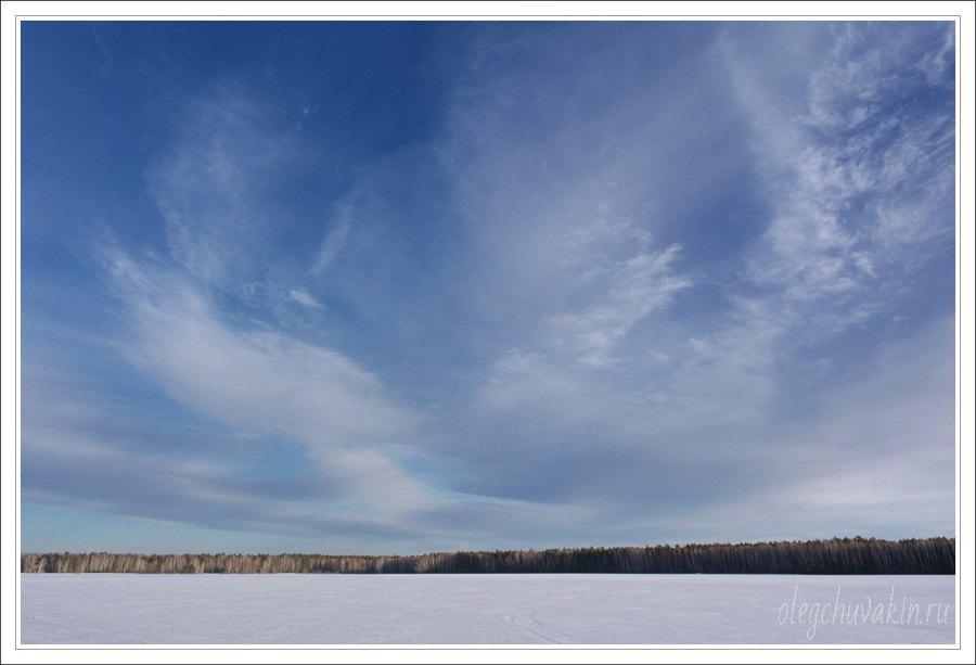 Небо, снег, солнце, фото, Олег Чувакин, 08