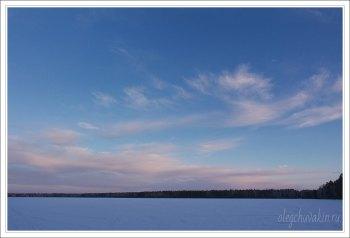 Небо, снег, солнце, фото, Олег Чувакин, 12