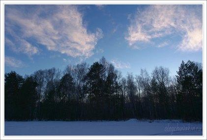 Небо, снег, солнце, фото, Олег Чувакин, 14