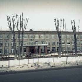 Школа номер 8, Тюмень, фото, зима
