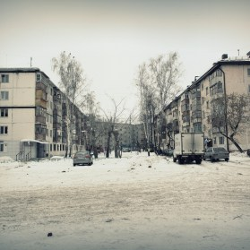 Тюмень, улица Республики, дворы, фото, зима