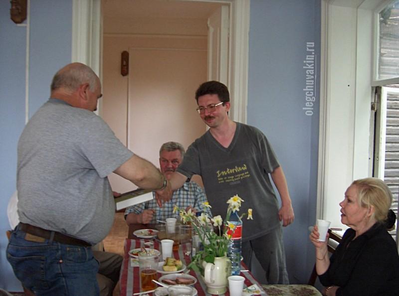 Виктор Захарченко, Олег Чувакин, Тюмень, Дом писателей, май 2005, фото