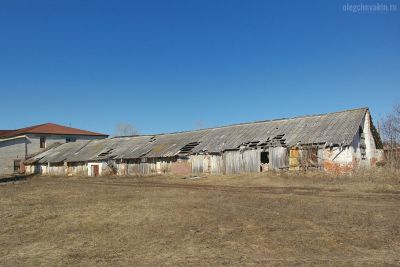 Остатки колхозов, гибель деревни, смерть села, разруха, Россия, фото