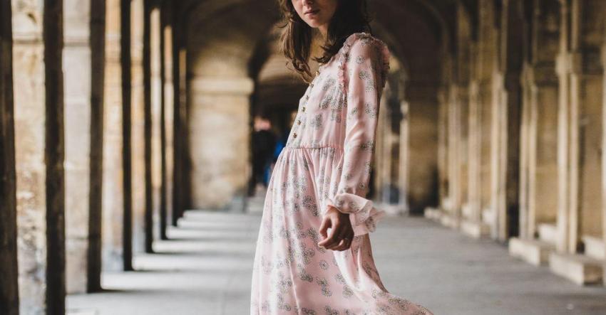 Девушка, платье, грядущее, сон, розовое, красота, художник, картина
