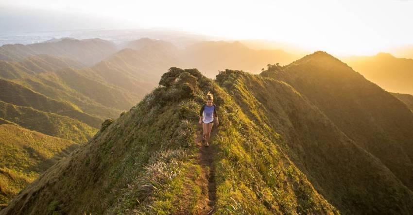 Девушка, горы, фото