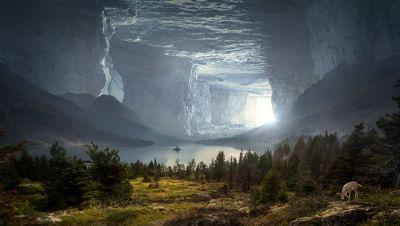 Фантазия, параллельный мир, пещера, граница между мирами