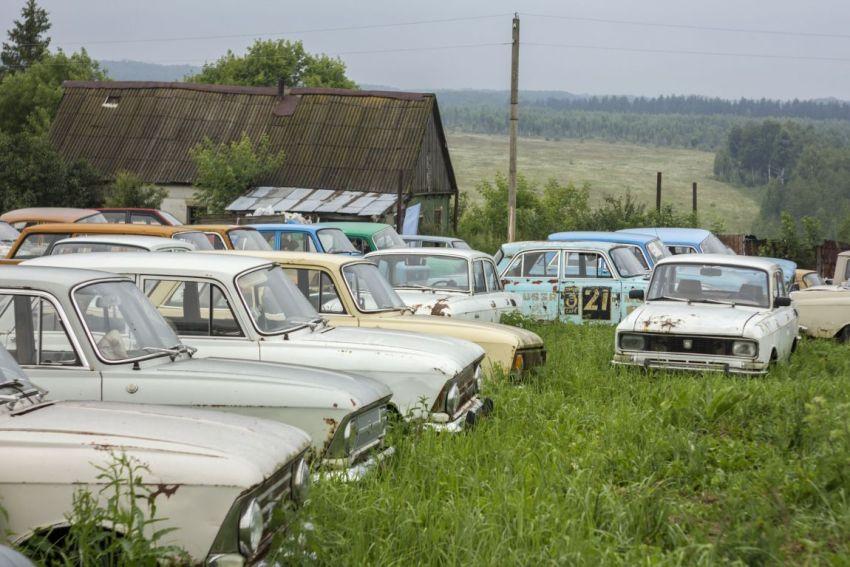 Старые автомобили, Москвич-2140, СССР, Россия