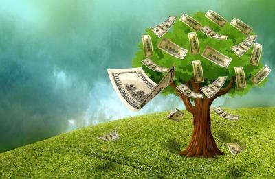 Дерево, деньги, растут, мошенничество, кошельки