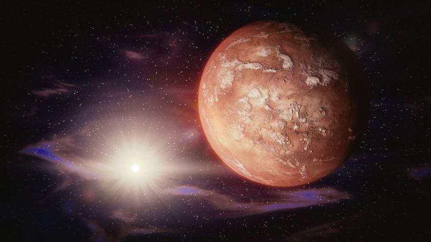 Марс, Солнце, космос, звёзды, Рэй Брэдбери