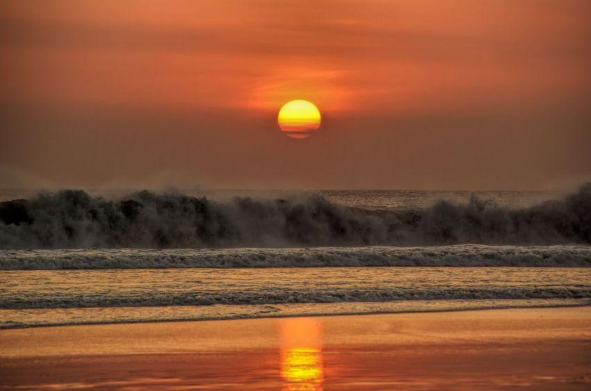 Солнце, закат, Бали, море, вечер