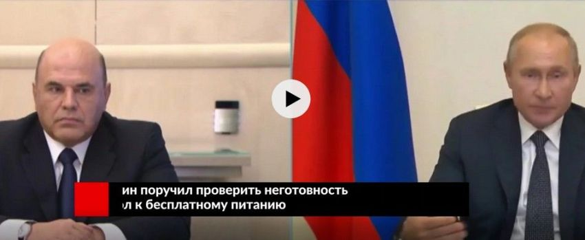 Путин, Мишустин, проверить, неготовность к бесплатному питанию, школы