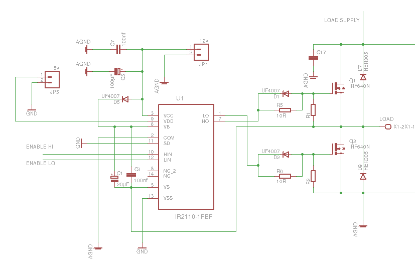 Powerful DC motor driver using IR2110 - Oleg Kutkov personal ... on