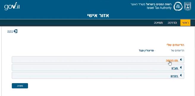 Опции подачи отчета в Мас Ахнасу