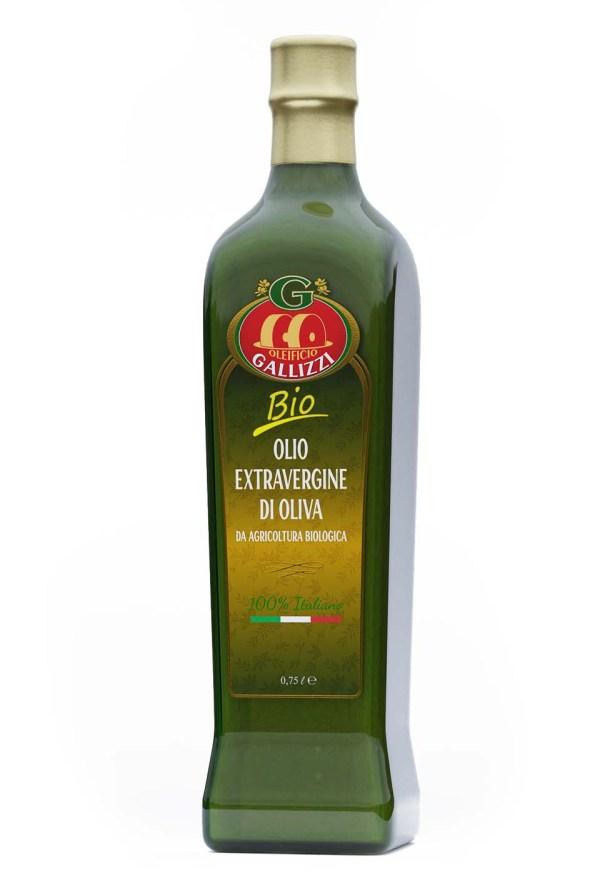 Bottiglia olio extravergine bio