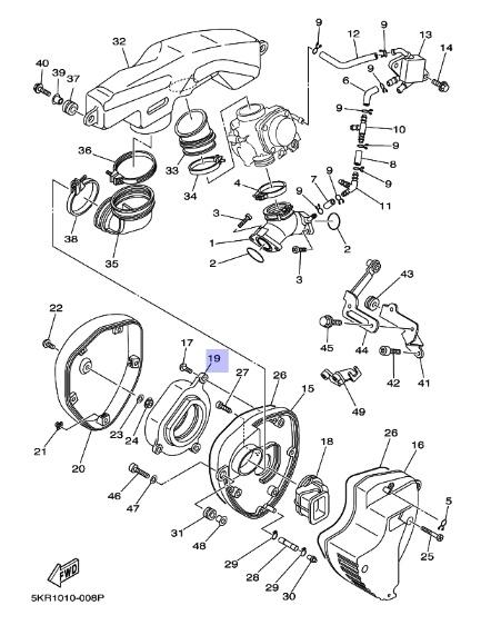 Oryginalny filtr powietrza Yamaha XVS250 DRAG STAR :: olej