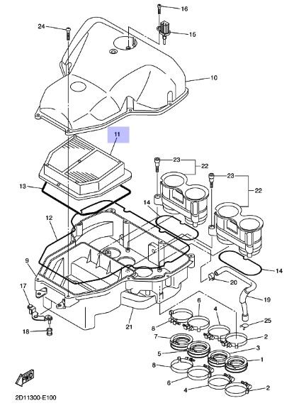 Oryginalny filtr powietrza Yamaha FZ1 :: olej-motocyklowy