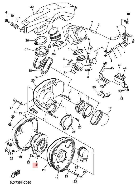 Oryginalny filtr powietrza Yamaha XVS 125 Drag Star