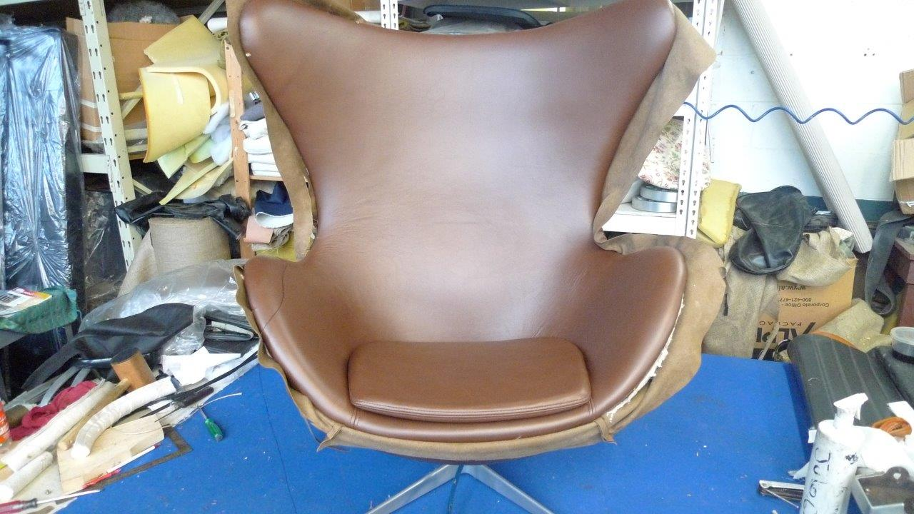 Reupholster Egg Chair Modern Furniture Reupholstery Hand Sewn Leather Upholstery Nyc
