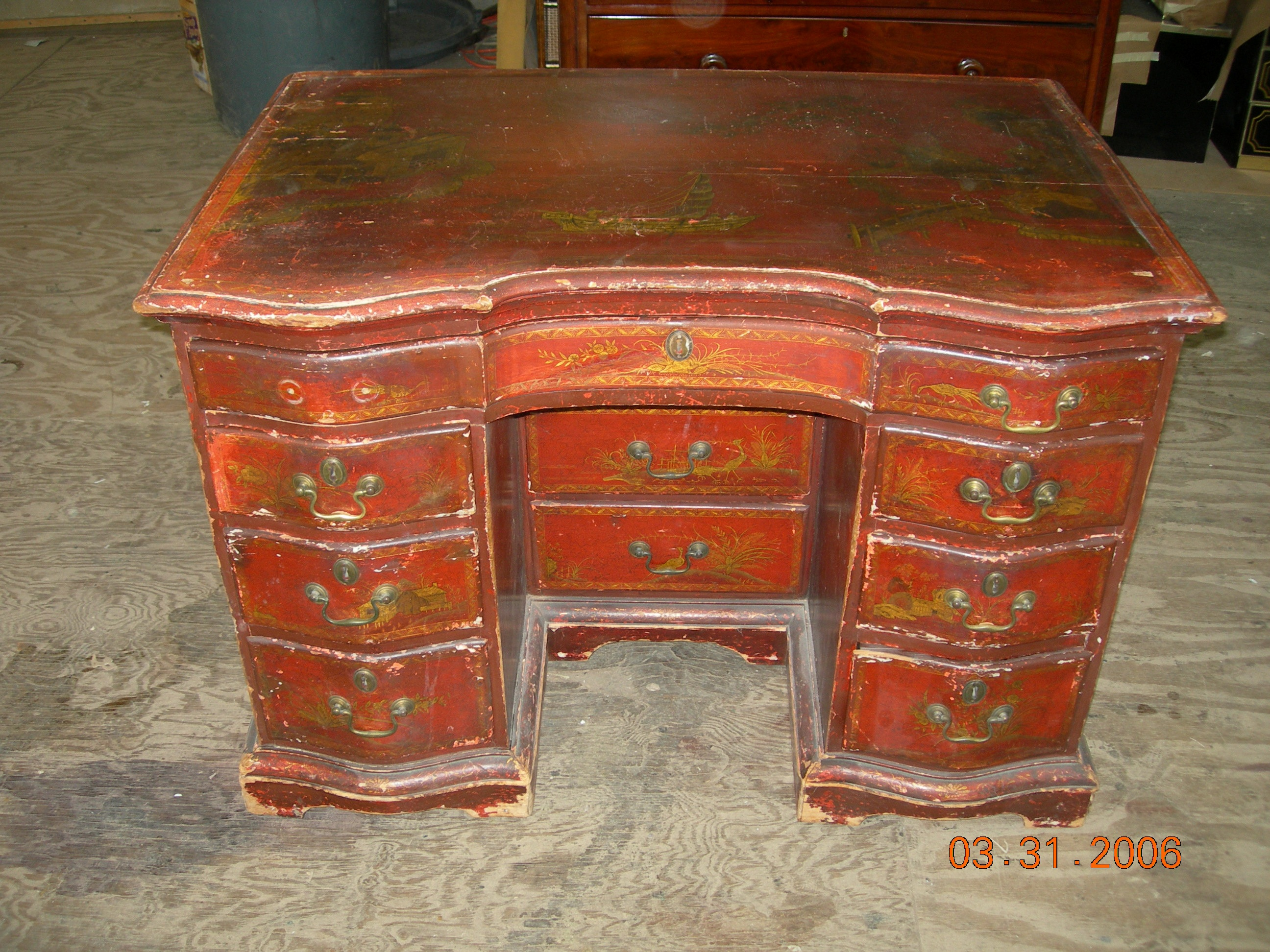 Antique furniture conservationrepair Gilding Lacquer
