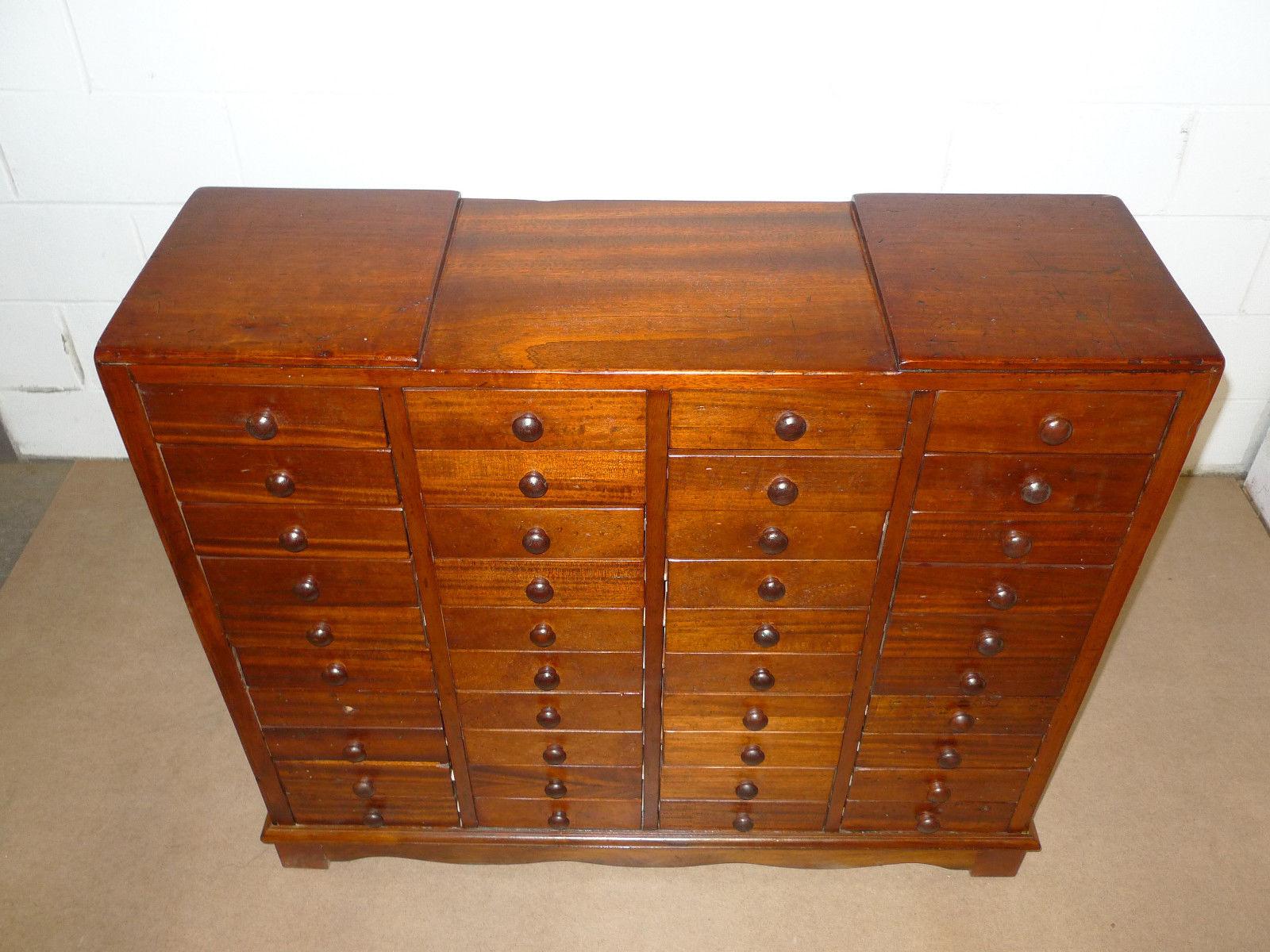 AmerMission Solid Mahogany Apothecary Cabinet 1800 1899 Antique AmerMission Solid Mahogany