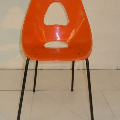 Mid Century Modern Plastic Chairs Dining Chair Covers India Orange Space Age Eames Era