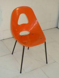 Orange Plastic Space Age Mid Century Modern Eames Era ...