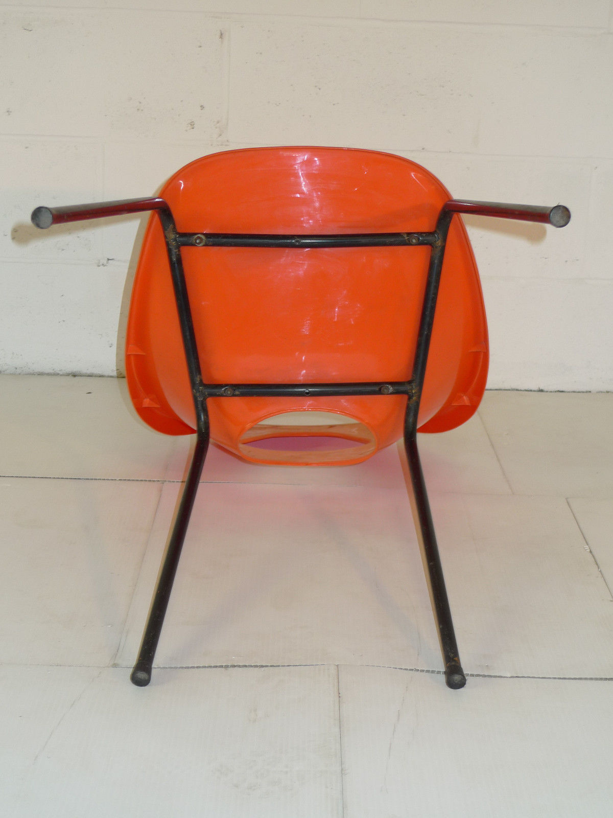 mid century modern plastic chairs chair design for bedroom orange space age eames era