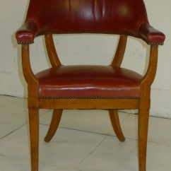 Modern Red Chair Ikea Roger Mid Century Leather Arm Rest 500 00