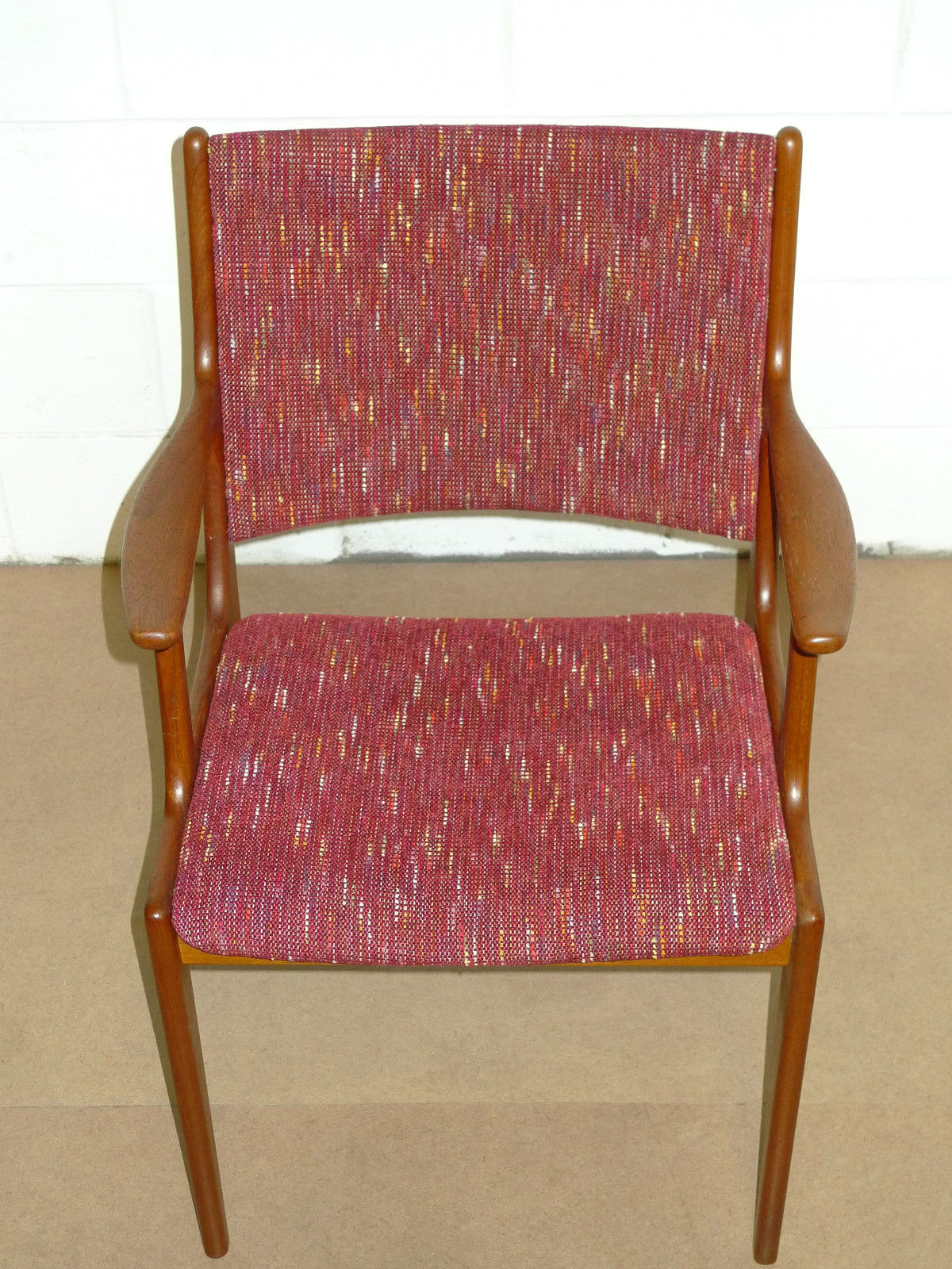 Mid Century Upholstered Chair Danish Teak Mid Century Modern Arm Chair Modern