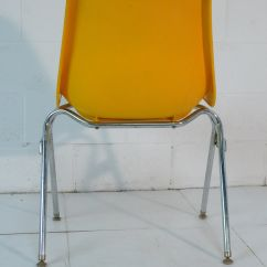 Mid Century Modern Plastic Chairs Lazy Boy Leather Yellow Eames Era 60 39s Chair