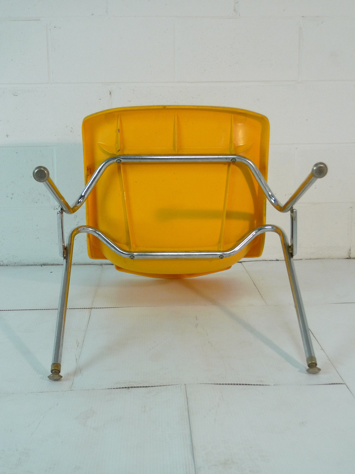 mid century modern plastic chairs the silver chair book yellow eames era 60 39s