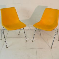 Mid Century Modern Plastic Chairs Chair Overview Design Yellow Eames Era 60 39s