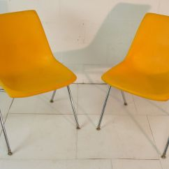 Mid Century Modern Plastic Chairs Pro Gaming Yellow Eames Era 60 39s Chair